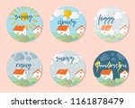 weather forecast in papercut... | Shutterstock .eps vector #1161878479