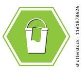 bucket and a rag sign. vector.... | Shutterstock .eps vector #1161878626