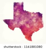 texas state usa watercolor map... | Shutterstock . vector #1161881080