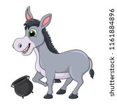 donkey cartoon character with... | Shutterstock .eps vector #1161884896