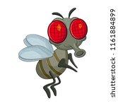 fly cartoon character vector... | Shutterstock .eps vector #1161884899