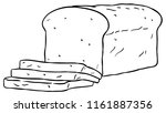 vector cartoon sliced loaf... | Shutterstock .eps vector #1161887356