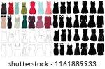 set of dresses | Shutterstock .eps vector #1161889933
