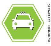 taxi sign illustration. vector. ... | Shutterstock .eps vector #1161896860