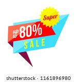 up to 80 percent sale banner on ... | Shutterstock .eps vector #1161896980