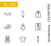 fashionable icons line style... | Shutterstock .eps vector #1161897850