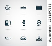 auto icons set with key  oil... | Shutterstock .eps vector #1161897856