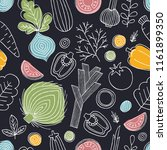 scandinavian style seamless... | Shutterstock . vector #1161899350
