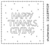 happy thanksgiving background... | Shutterstock .eps vector #1161899539