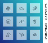 nutrition icons line style set... | Shutterstock .eps vector #1161906496