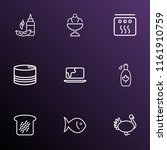 food icons line style set with... | Shutterstock .eps vector #1161910759