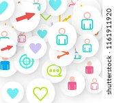 social media marketing ... | Shutterstock .eps vector #1161911920