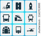 shipment icons set with loose... | Shutterstock . vector #1161913000