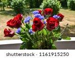 celebration flower bouquet with ... | Shutterstock . vector #1161915250
