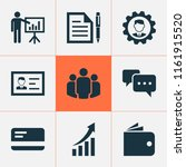 job icons set with... | Shutterstock .eps vector #1161915520