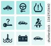 car icons set with not key ... | Shutterstock .eps vector #1161915640