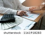auditor or internal revenue... | Shutterstock . vector #1161918283