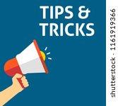 tips   tricks announcement.... | Shutterstock .eps vector #1161919366