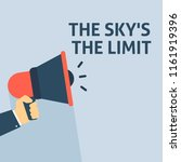 the sky's the limit... | Shutterstock .eps vector #1161919396