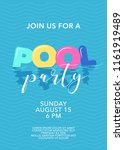 pool party poster with... | Shutterstock .eps vector #1161919489