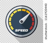 speedometer icon in flat style... | Shutterstock .eps vector #1161920440