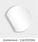 round paper sticker template... | Shutterstock . vector #1161925336