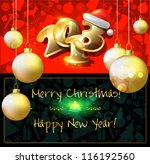 happy new year card or... | Shutterstock .eps vector #116192560