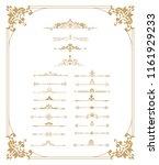 set of vintage elements. frames ...   Shutterstock . vector #1161929233
