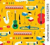 hand drawn various musical... | Shutterstock .eps vector #1161932593