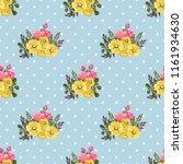 seamless vector ornamental... | Shutterstock .eps vector #1161934630