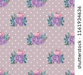seamless vector ornamental... | Shutterstock .eps vector #1161934636