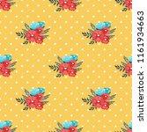 seamless vector ornamental... | Shutterstock .eps vector #1161934663