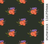 seamless vector ornamental... | Shutterstock .eps vector #1161934666
