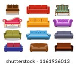 sofa and couches colorful... | Shutterstock .eps vector #1161936013