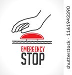 emergency stop button   concept ... | Shutterstock .eps vector #1161943390