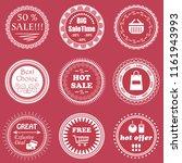 vintage sale labels collection. ... | Shutterstock . vector #1161943993