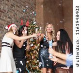 young women celebrating... | Shutterstock . vector #1161948403