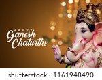 ganpati  lord ganesha  happy... | Shutterstock . vector #1161948490