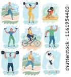 vector cartoon illustration of... | Shutterstock .eps vector #1161954403