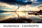 dramatic sky at sunset on the... | Shutterstock . vector #1161962953