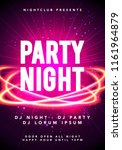vector illustration party night ... | Shutterstock .eps vector #1161964879