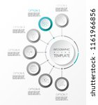gray infographic with business... | Shutterstock .eps vector #1161966856