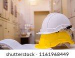 standard construction safety... | Shutterstock . vector #1161968449