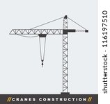 Silhouette Construction Crane...