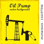 silhouette oil pump over yellow ... | Shutterstock .eps vector #116197546