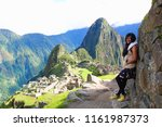 tourist and panoramic view of... | Shutterstock . vector #1161987373
