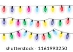set of three chains of colorful ... | Shutterstock .eps vector #1161993250
