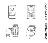 nfc payment linear icons set.... | Shutterstock .eps vector #1161997990