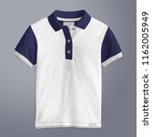 polo t shirt mockup  front view ... | Shutterstock . vector #1162005949