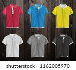 collection of colorful polo t... | Shutterstock . vector #1162005970